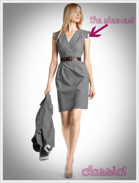 br-wool sheath dress